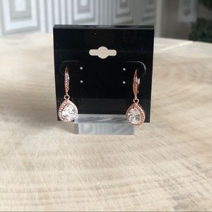 Jewelry - Rose Gold with Crystal Tear Drop